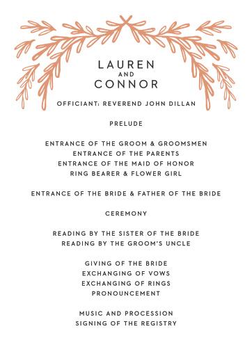 Gilded Frame Wedding Programs