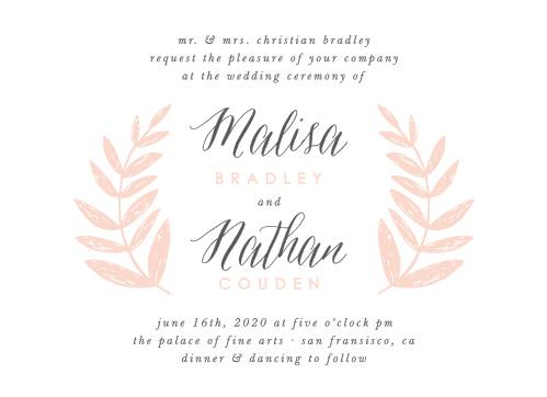Wedding Wreath Wedding Invitations