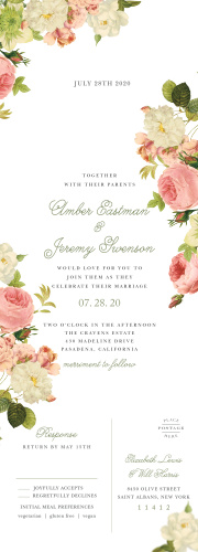 Wedding Invitations With Rsvp Cards Match Your Color Style Free