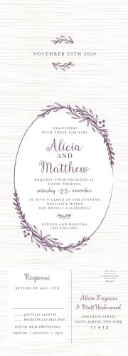 Delicate Laurel Seal & Send Wedding Invitations