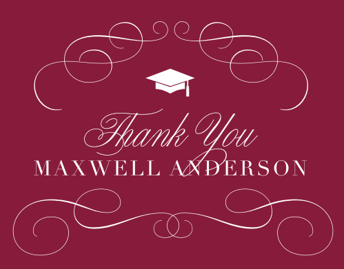 Swirling Success Graduation Thank You Cards