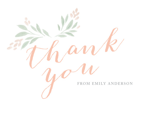 Botanical Frame Graduation Thank You Cards