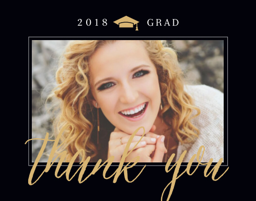 Classic Graduate Graduation Thank You Cards