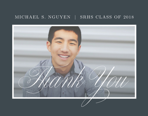 Classic Border Graduation Thank You Cards