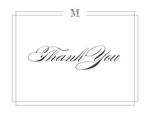 Grad Monogram Graduation Thank You Cards