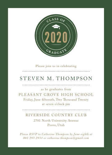 school pride graduation invitations