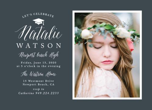 photo frame graduation invitations