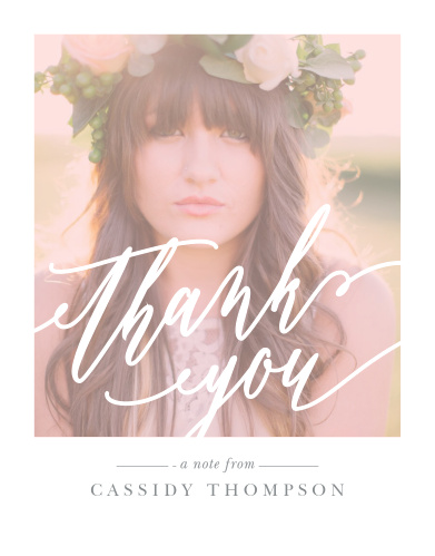Color Overlay Graduation Thank You Cards
