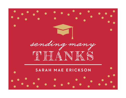 Cap & Confetti Graduation Thank You Cards