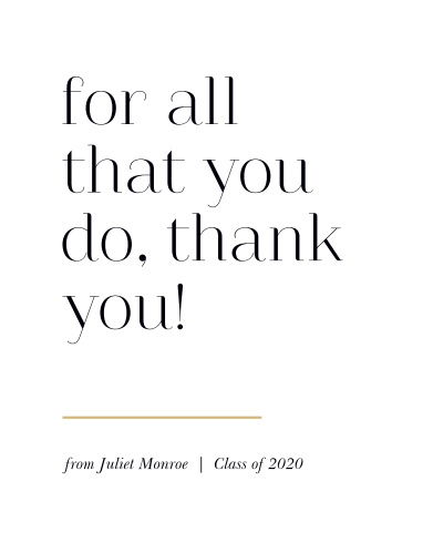 All That Is Great Graduation Thank You Cards