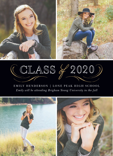Elegant Band Graduation Announcements