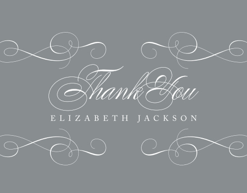 Elegant Senior Graduation Thank You Cards