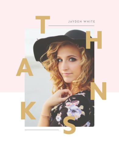 Fashion Editorial Graduation Thank You Cards