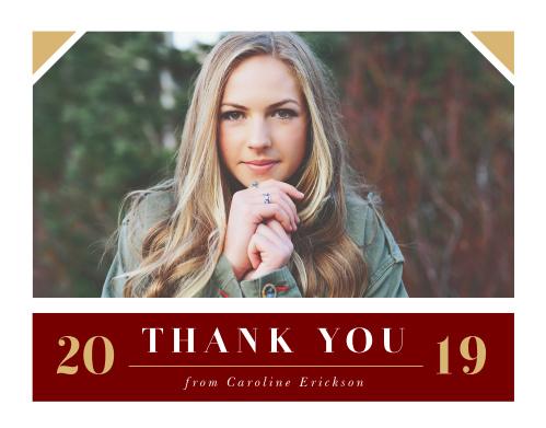 Gilded Graduate Graduation Thank You Cards