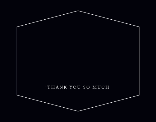 Hexagon Frame Graduation Thank You Cards