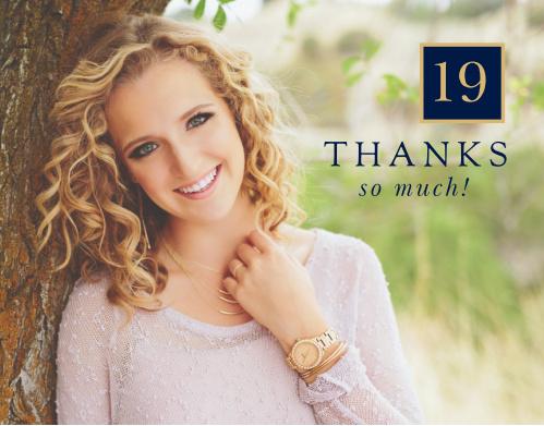 Big Time Blocks Graduation Thank You Cards