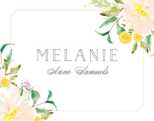 Melodious Melanie Graduation Thank You Cards