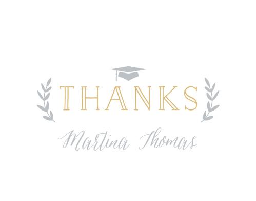 Class Laurels Graduation Thank You Cards