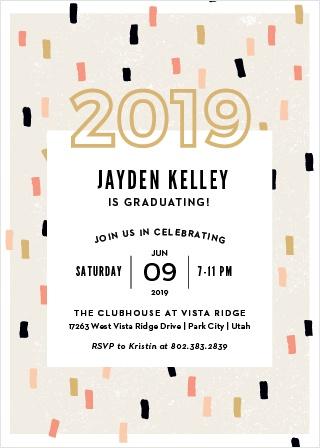 2018 Graduation Party Invitations Super Cute Easy To Design