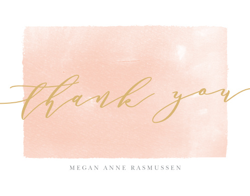Painted Border Graduation Thank You Cards