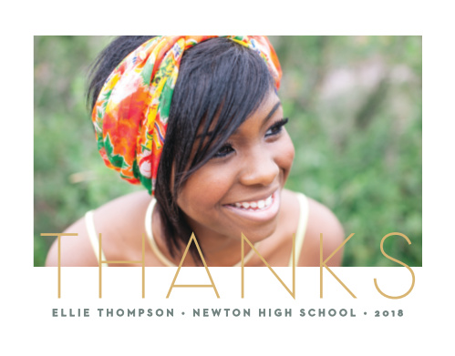 Modern Type Graduation Thank You Cards