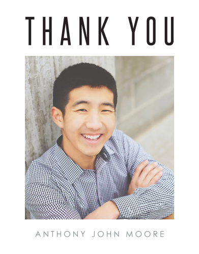 Photo Play Graduation Thank You Cards