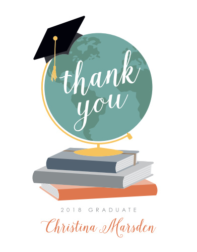 The Adventure Begins Graduation Thank You Cards