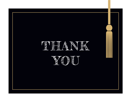 Hanging Tassel Graduation Thank You Cards