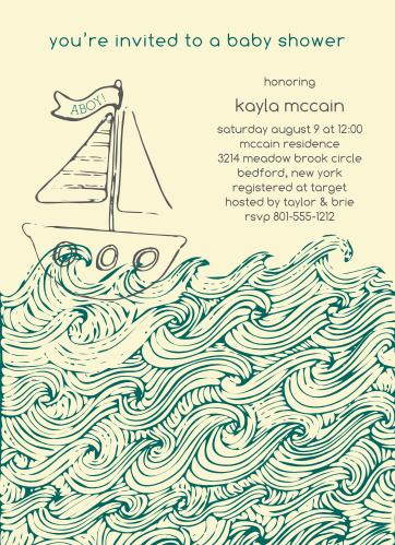 little sailor baby shower invitations