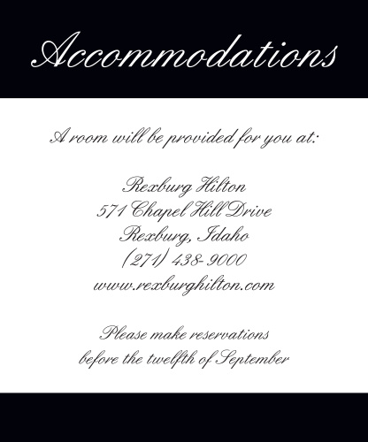 Forever Chic Accommodation Cards