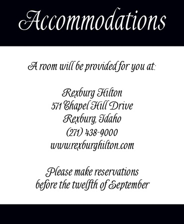 The Forever Chic Accommodation Cards