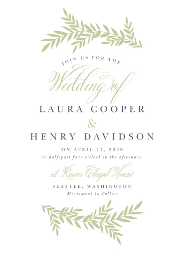 blissful boughs wedding invitations