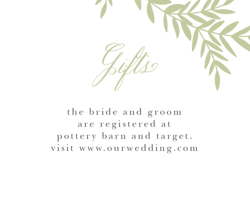 Blissful Boughs Registry Cards