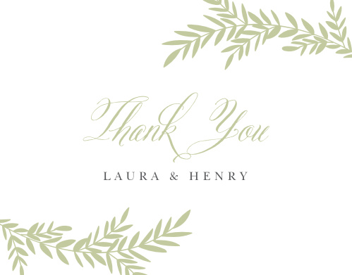 Blissful Boughs Wedding Thank You Cards