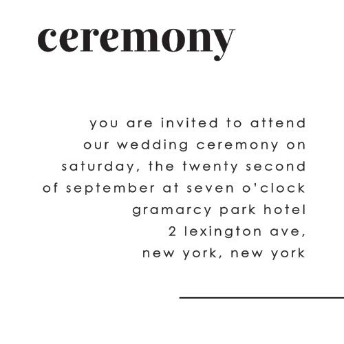 Mod Type Ceremony Cards