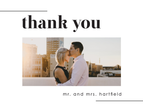 Mod Type Wedding Thank You Cards