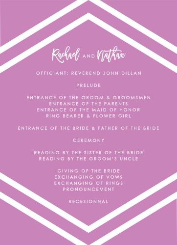 Cheeky Chevron Wedding Programs