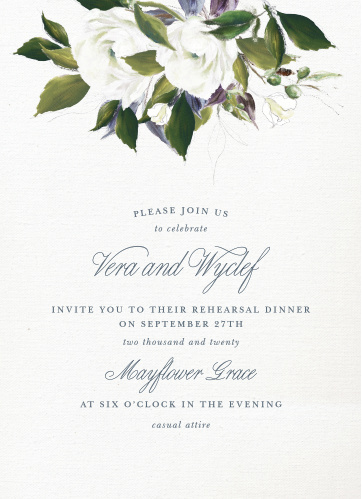 Elegant Aristocrat Rehearsal Dinner Invitations