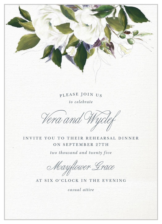 Elegant Aristocrat Rehearsal Dinner Invitations By Basic Invite