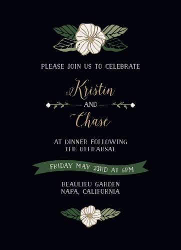 Garden Floral Rehearsal Dinner Invitations