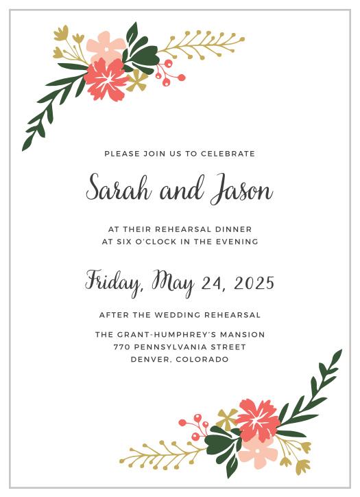 Garden Party Bridal Shower Invitations By Basic Invite