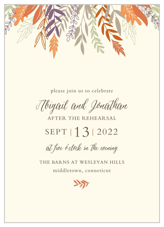 Fall Harvest Rehearsal Dinner Invitations By Basic Invite