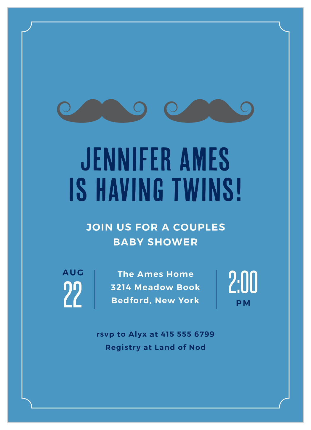 Boy Twins Baby Shower Invitations By Basic Invite
