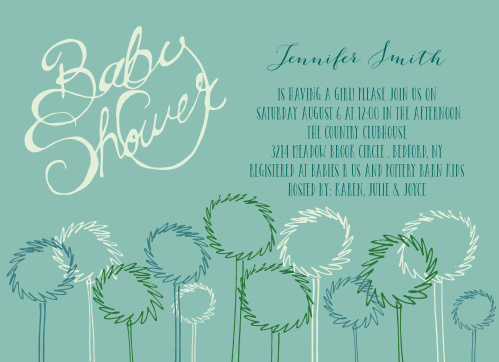 Dandelion Patch Baby Shower Thank You Cards by Basic Invite