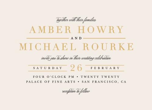 Timeless Type Wedding Invitations