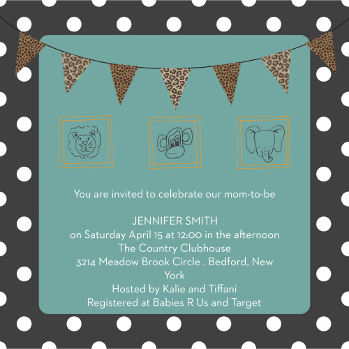 safari baby shower invitations match your color style free