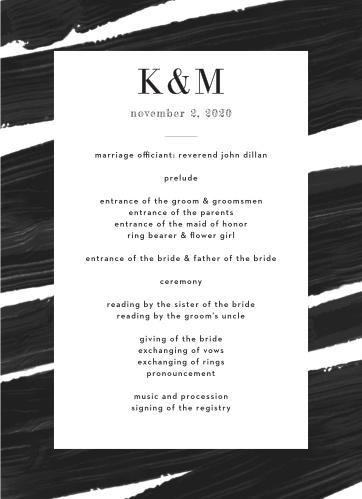 Modern Art Wedding Programs