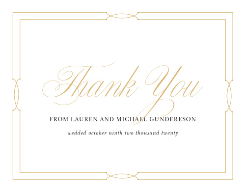 Love Knots Wedding Thank You Cards