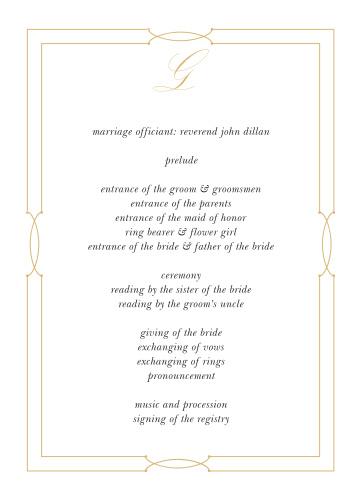 Love Knots Wedding Programs