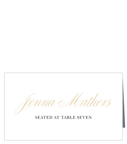 Tableware Golden Autumn Leaves Watercolour Wedding Table Seating Name Place Cards Home & Kitchen